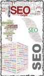 SEO word collage vectors
