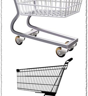 Shopping trolley vectors