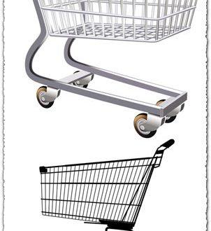 Shopping trolley vectors