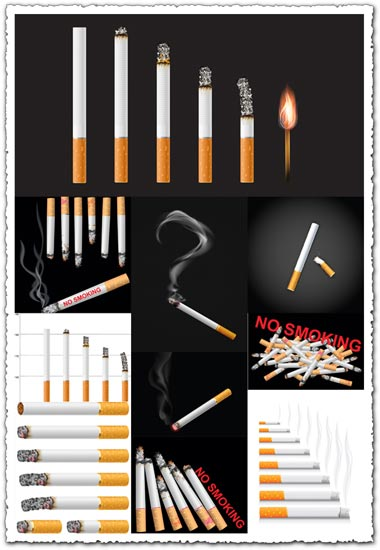 Smoking and no-smoking vector cigarettes