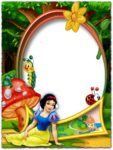 Snow White in the forest png photo frame