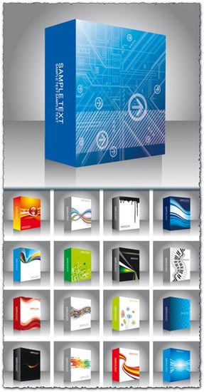 Software box vector templates
