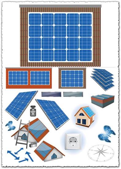 Solar panels vectors