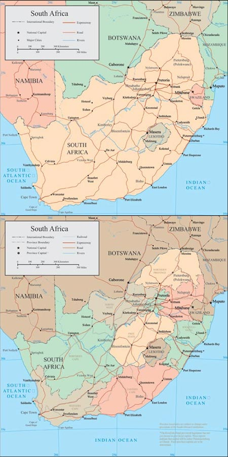 South Africa vector maps