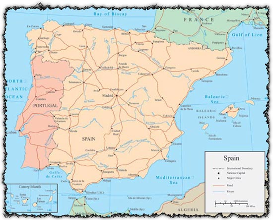 Map Of Spain Vector Free.Spain Vector Map Free Illustrator Vectors For Download