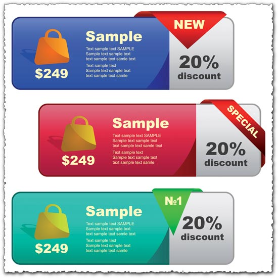 Special sales vector banners