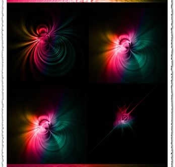 Spiral fractal photoshop brushes