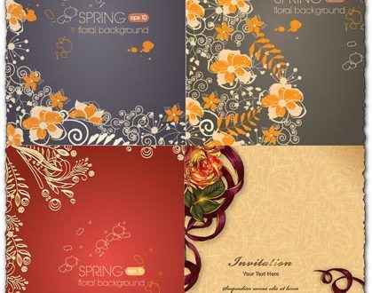 Spring floral background vector illustration 2