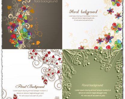 Spring floral background vector illustration 3