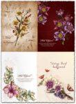 Spring floral background vector illustration 4