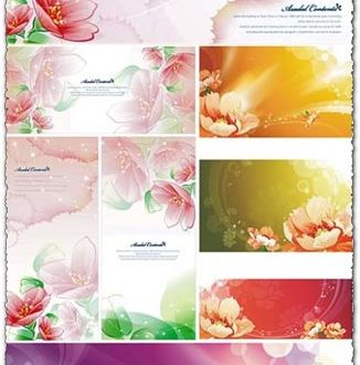 Spring flower postcards