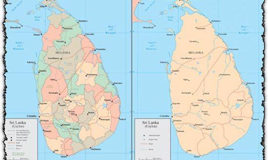 Sri Lanka vector maps