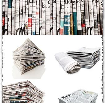 Stack of newspapers high resolution images