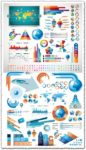 Statistic charts infographics vector