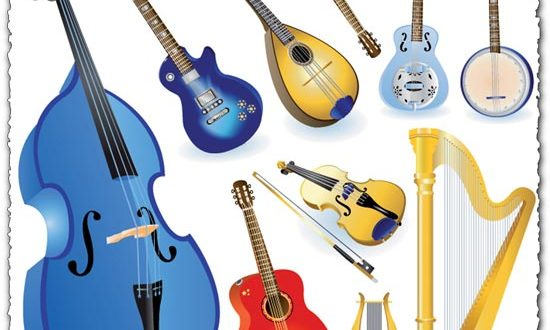 String music instruments vectors