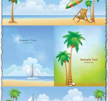 Summer beach background vectors