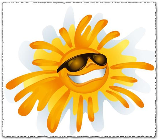 Sunny smile vector