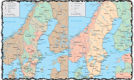 Sweden vector maps