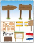 Tablets and signboards vectors