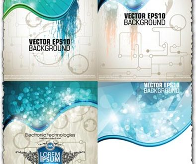 Technology vector backgrounds