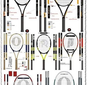 Tennis and badminton vectors