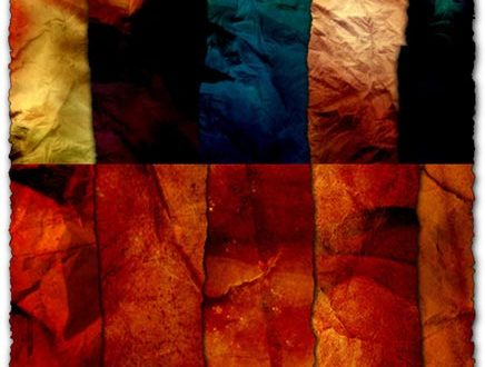 Fabric textures with various colors and shapes