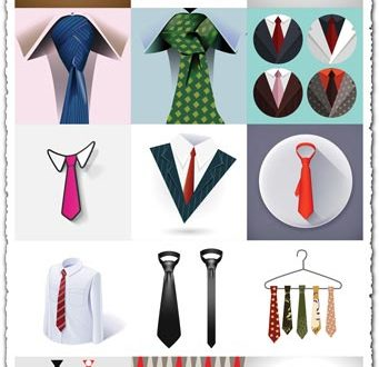 Ties and knots in 25 vector collection