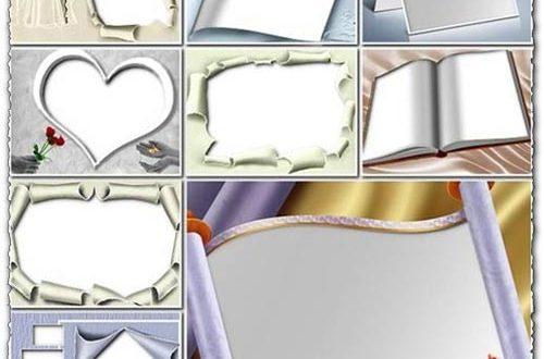Transparent wedding photo frames