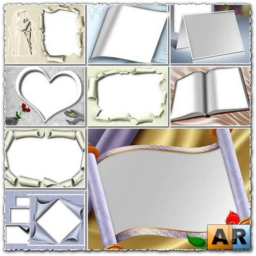 Transparent wedding photo frames