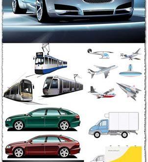 Transportation vectors collection