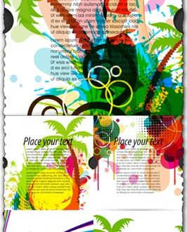 Travel covers vector template