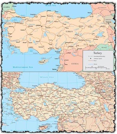 Turkey vector maps