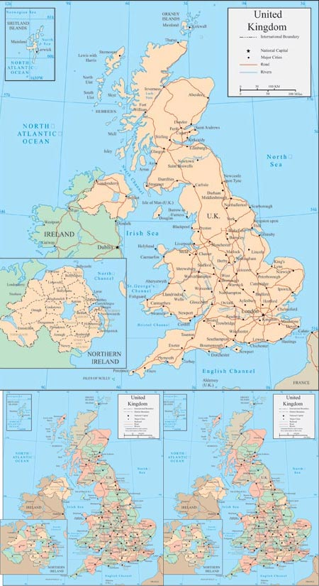 United Kingdom vector maps