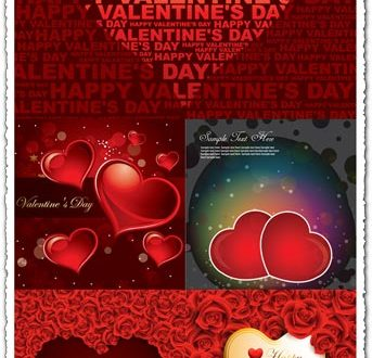 Valentine's day vector cards