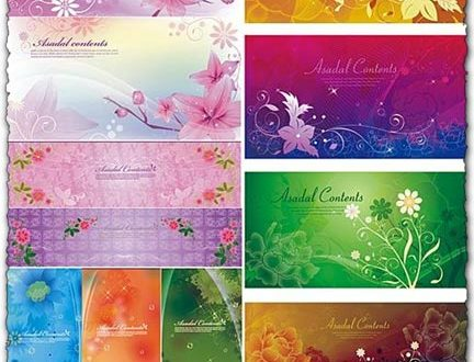 Vector banners flower design