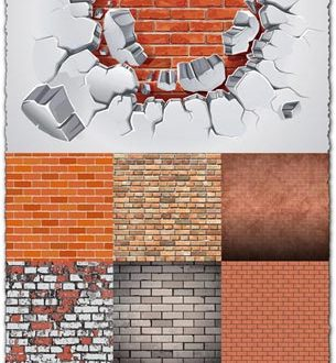 Brick wall vector textures