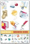 Stock business icons vector