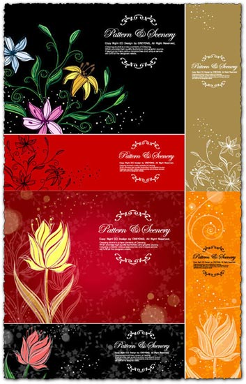 Decorative flower banners