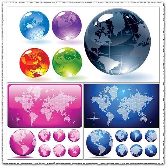 Vector globes template design