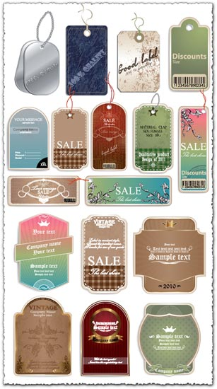 Sale tags and labels vectors