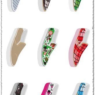 Vector shoes and baskets design