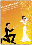 Wedding card template vector design