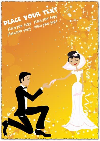 Wedding card template vector design