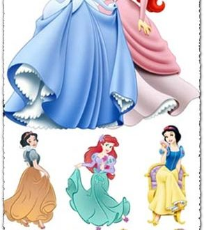 Disney princesses vector