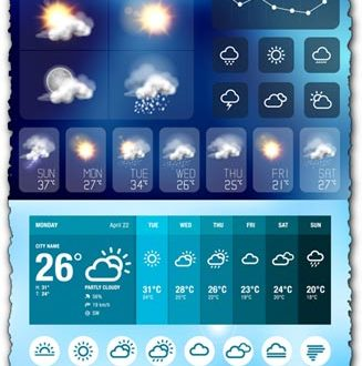 Weather icons for smartphone applications