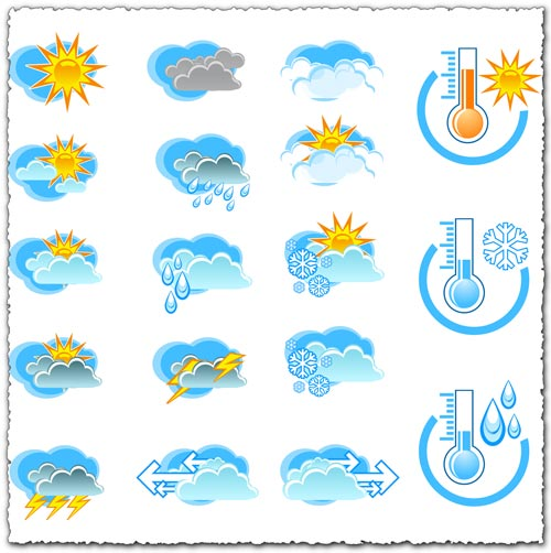 Transparent weather png icons