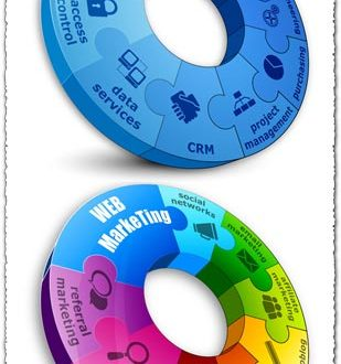 Web marketing infographics charts vector