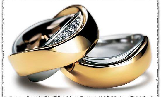Wedding gold ring vector