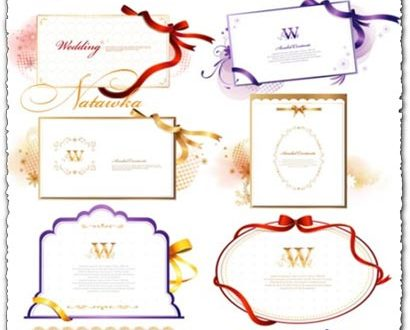 Wedding invitations vectors