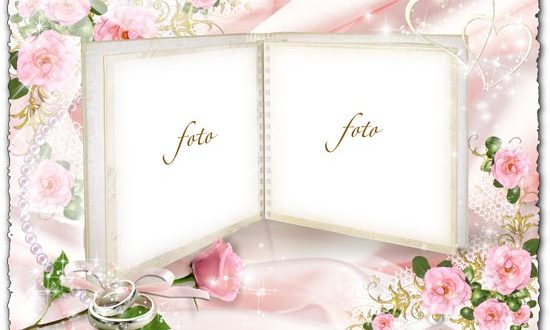 Wedding photo frame album for Photoshop